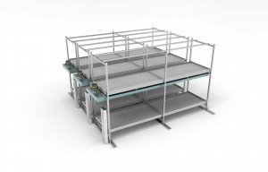 NatureHydro Multi-tier mobile grow racks with abs flood trays