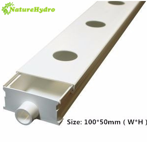 Hydroponic NFT channel growing system