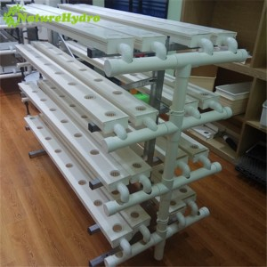 Hydroponic NFT channel system for greenhouse