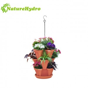 Hanging Plastic Stacking Garden Flower Pots