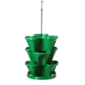 Hanging stacked flower pots
