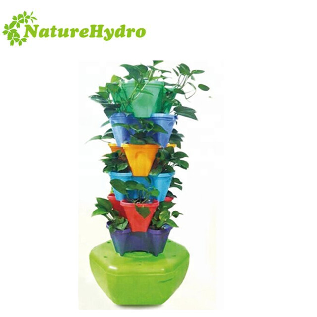 Hot Sale Home Garden Self-water flower stacked pots Featured Image