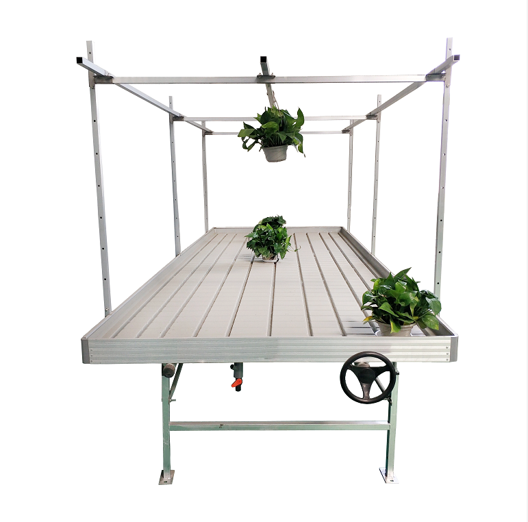Rolling Benches With Trellies For Hydroponics Featured Image