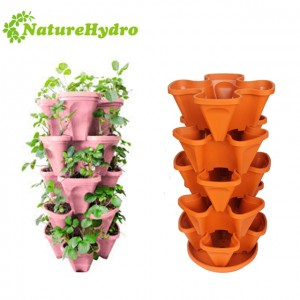 Hot Sale Home Garden Self-water flower stacked pots