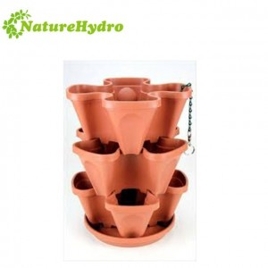 High Quality 4 Plants Hanging Flower pots Used Indoor and Garden